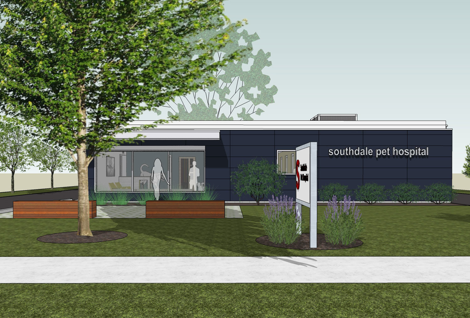 Photo showing the Southdale Pet Hospital remodel plan.